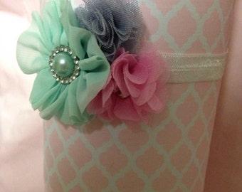 Tri-Color Bling Sweetheart Headband