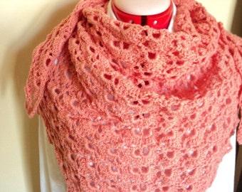 Beautiful salmon pink, orange Southbay wrap approx. 1m50  0.80cm