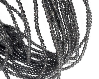 3mm Chatoyant Mystique Black Obsidian Gemstone Round 3mm Loose Beads 16 inch Full Strand BULK LOT 1,2,6,12 and 50 (90114018-107 - 3mm A)