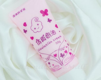 Decoden Whipped Cream / Fake Whipped Cream / Fake Icing Clay / Simulation Sillicone Cream / for phone case 50g 2 FREE Tips - Light Pink