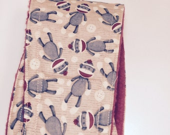 Male Dog Belly Bands - Sock Monkey fabric
