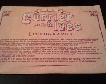 Currier and Ives Lithographs