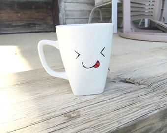 Silly face - coffee mug