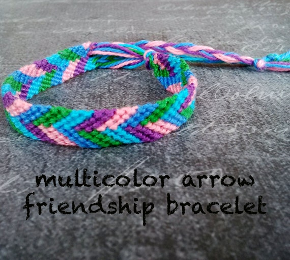 multicolor arrow friendship bracelet string by