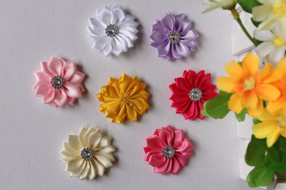 Diy flower fabric mini small daisy embellishment baby for Small flowers for crafts