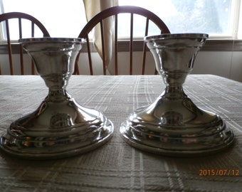 Elgin Silversmith Sterling Candleholders