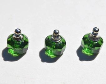 1 Glass bottle pendant | green bottle pendant | green glass bottles | miniature glass bottles | miniature bottle pendants | bottle charms