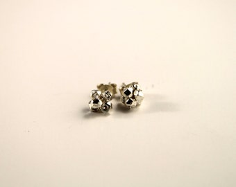 Sterling silver cluster stud earrings