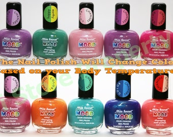 Mia Secret - Mood Color Changing Nail Polish 10 Colors -Choose your Favorite Color