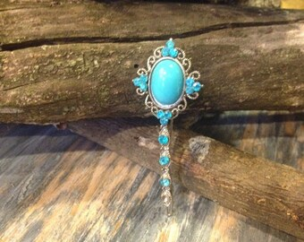 Antique Turquoise Hair Pin