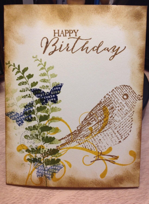 Happy birthday card nature theme