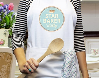 Star Baker Apron  - Personalised in the UK