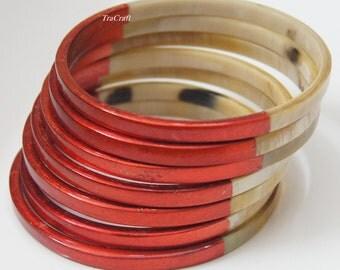 Horn & Lacquer Bangle Bracelet-V17R