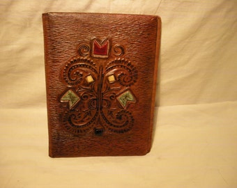 Vintage 1970's Handmade Brown Leather Portfolio