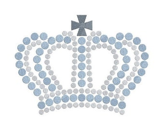 dotted crown machine embroidery design