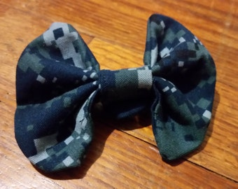 NWU Camouflage Hair Bow (Navy)