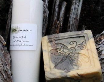 Desire at Dusk 4 oz Goats Milk Satin Lotion & Soap combo