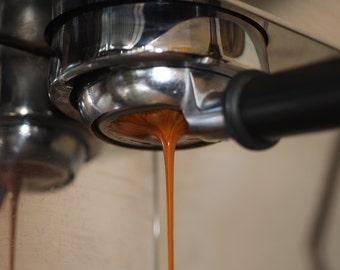 Fine art travel print of an espresso running
