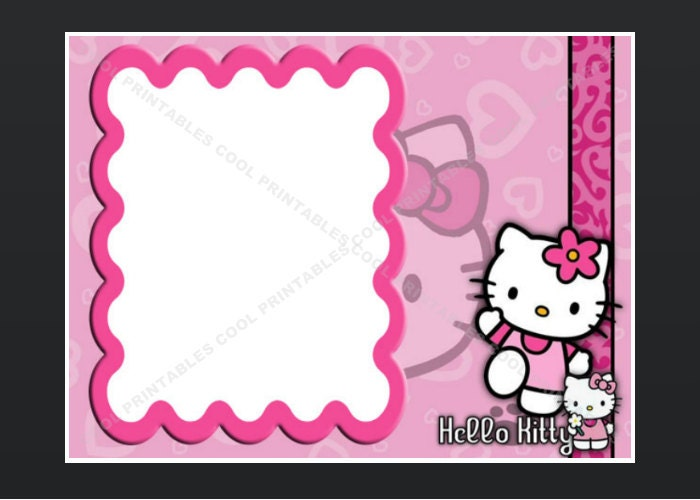 Hello Kitty Blank Invitation Birthday Thank You by ...