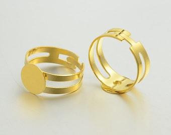 basic adjustable brass ring gold