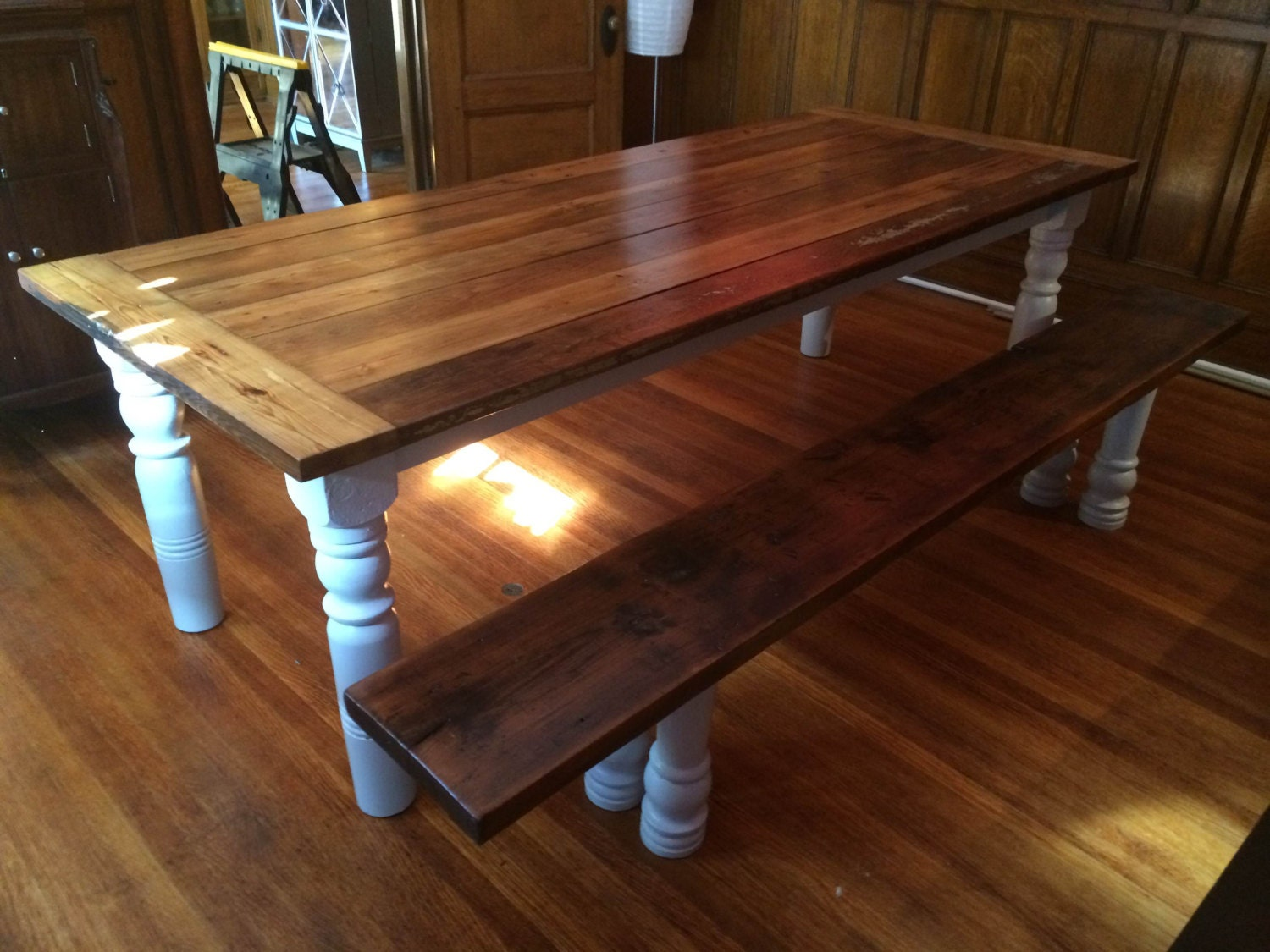 8 foot long farm table by BairdWoodWorks on Etsy