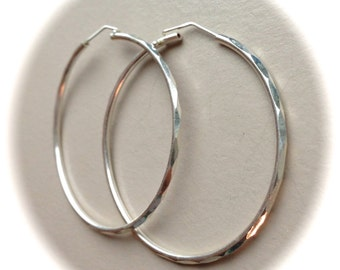 "Sterling Silver Hoops 1.75"" Diameter"