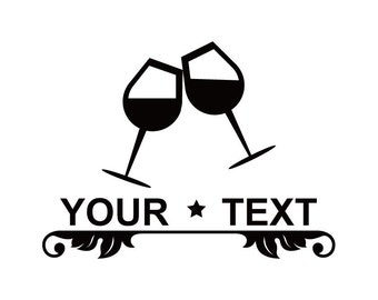 ID: SP00014; Wine Glasses Vinyl Decal