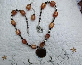 Brown Heart Pendant