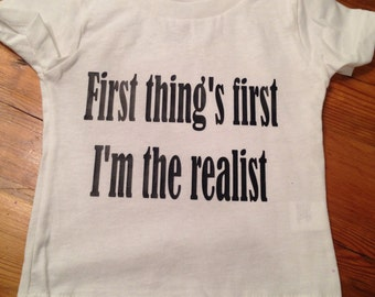 First thing's first Infant tee/Toddler tee