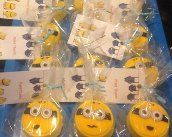 Edible Mini Minion toppers 1-3/4""