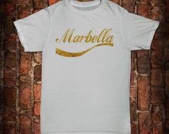 Mens Marbella gold lettering T-Shirt