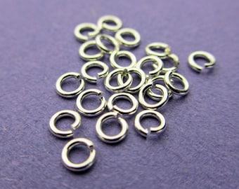 New 3mm 925 Sterling Silver 22 gauge Open Jump Rings 24pcs.