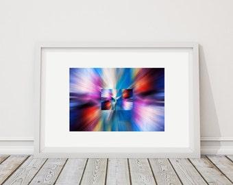 Colors Horiz 1 - art print limited edition - 24 cm x 36 cm - frame - photographic Composition - Interior Decoration