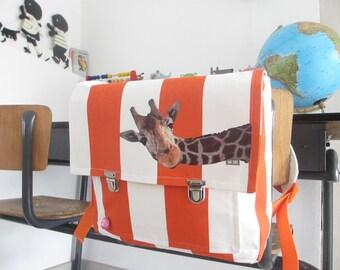 Cheerful Retro Giraffe Schoolbag