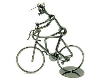Miniature cyclist bike bicycle art bike accessories gift