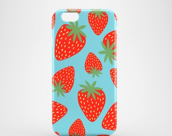 Strawberries phone case / summer iPhone 7 case / iPhone 7 Plus / iPhone 6S / iPhone 6 / iPhone 5/5S, Se / Samsung Galaxy S7, Galaxy S6,S5