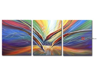 Flying colors abstract wall art