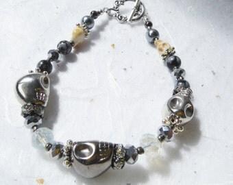 Skull Bracelet – White and Silver