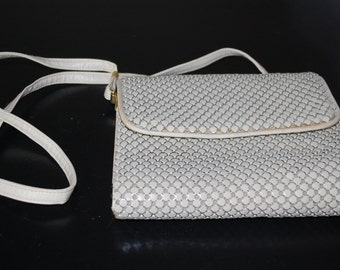 Beaded Purse White