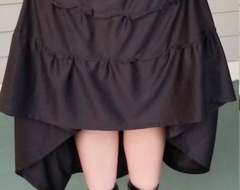 Black tier skirt. 3 ways to wear. Custom Size.