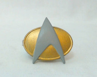 Star Trek TNG style Combadge hair clip, hair accessory