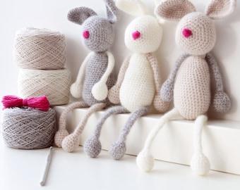 Amigurumi Crochet Kit - Bunny Family,crochet,crocheting,amigurumi,Amigurumi kit,crochet kit,crochet gift,crochet pattern,diy crochet