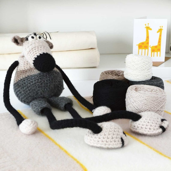 DIY arts craft kitLuxury Big Mouse Amigurumi Crochet KitDIY