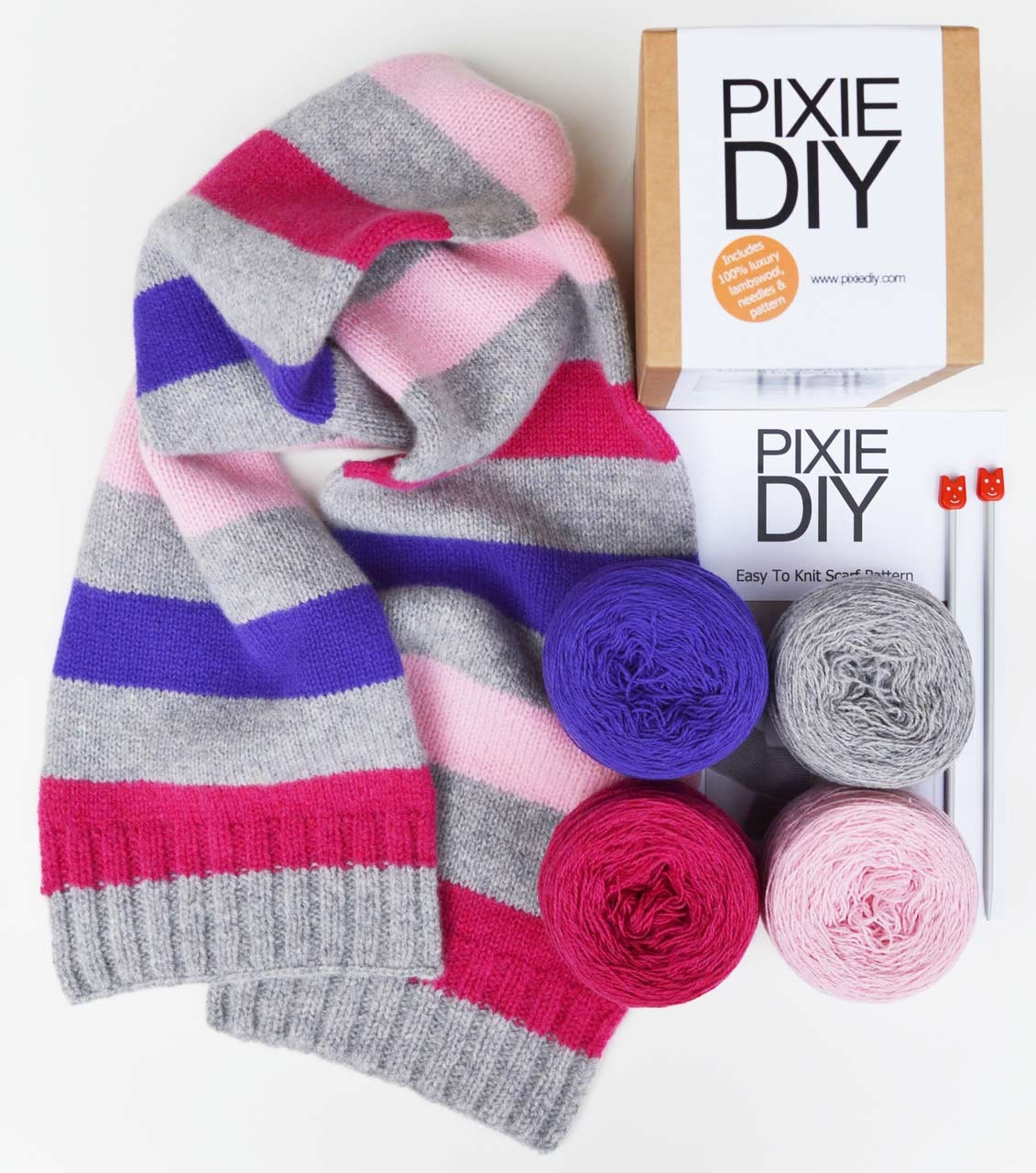 Knitting Diy Kits : Diy scarf knitting kit