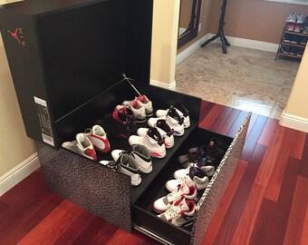 Custom Made Jordan Storage Box Wood Retro Furniture   FREE SHIPPING