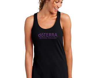 doTERRA - Approved and Compliant - Black Ladies Racerback Tank