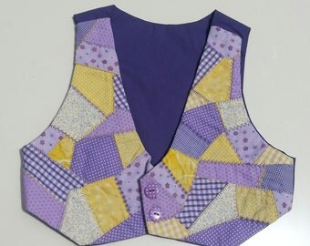 Baby/toddler patchwork waistcoat