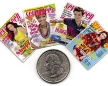 4 Miniature   'SEVENTEEN'   Magazines  -  Dollhouse 1:12 scale