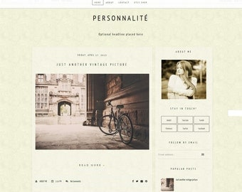 On Sale -Blogger Theme Design - Modern Style - Premade Blog Theme Design, Template Blogger - Website Template for Blogger - Instant download