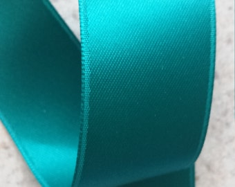 Jade Green Double Face Satin Ribbon  4 Yards - Choose Your Width